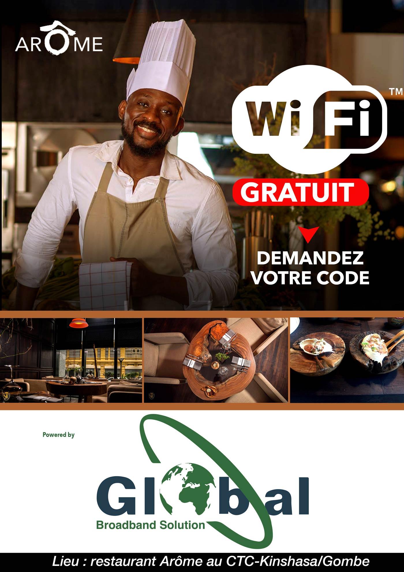 Wifi Hotspot chez Restaurant Aroma